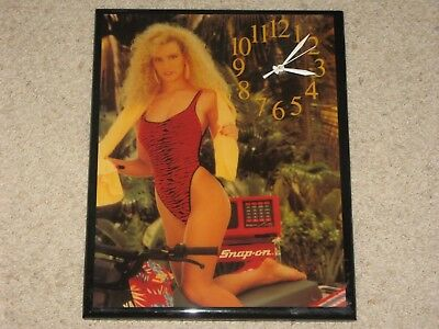 Nos Snap On Tools Pinup Wall Clock / Never Used
