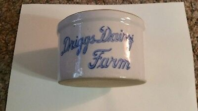 Driggs DAIRY MILK CREAM CHEESE BUTTER CROCK TOLEDO OHIO PLAMYRA MICHIGAN MICH MI