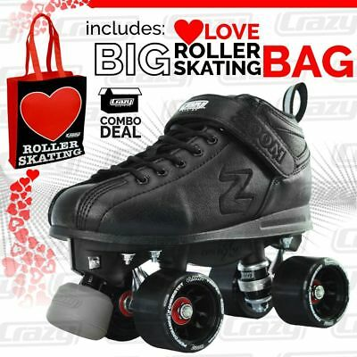 Zoom Speed Skate- Low Cut Boot Quad Roller Skates with LOVE ROLLER SKATING BAG!!