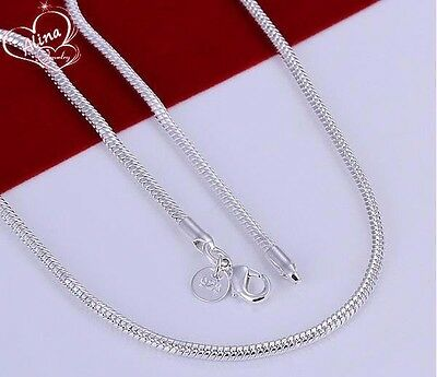 Stunning Silver 3MM 50cm (20 Inch) Classic Snake Necklace Chains
