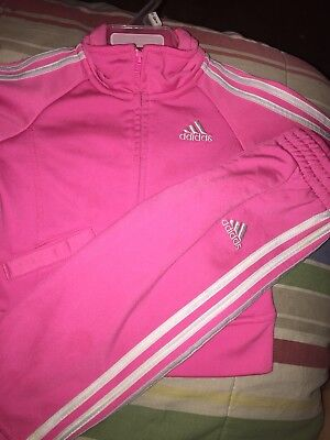 Adidas Track suit toddler girl 12 months pink new