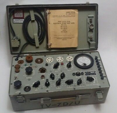 Tv-7D/u Tube Tester Made By Ecco Electrinics Corp. Nice Condition, Works!