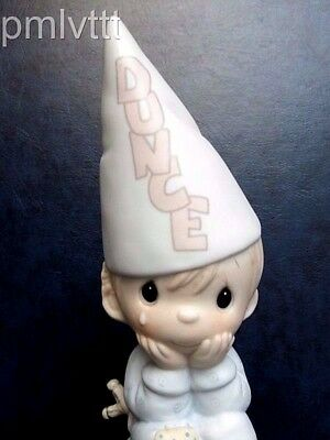 Precious Moments Very Rare Version Smiling Dunce-Boy On The Stool BV=$495 Boxed