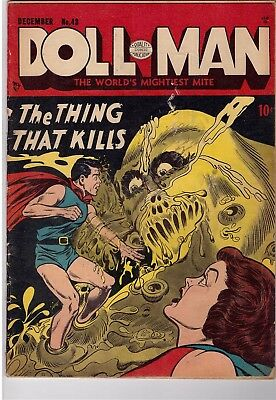 Doll Man #43 Dec 1952 Quality Comics Comic Book The Thing That Kills