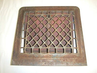 Heat Air Grate register rustic raised front arches vintage Wall Vent