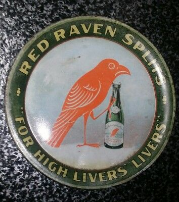 """1905-Red Raven Splits -Tip Tray-For High Livers-4.25""""-Am. Can Co.-Advertising"""