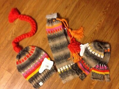 Little Miss Matched Soft Comfy Hat/LegWarmers/OpenfingerGloves New w Tags