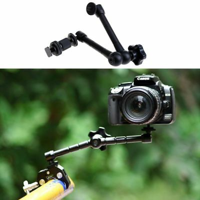 "11"" Inch Articulating Magic Arm + Super Clamp Crab Plier Clip For Camera DSLR MU"