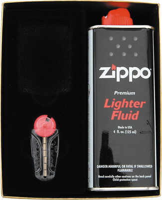 Zippo Gift Set ORMD Includes 4 fl oz lighter fluid and six flints packaged in gi