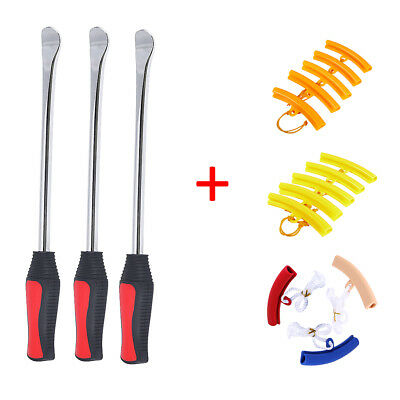 Tire Spoon Levers Iron Tool Kit Motorcycle Bike Tire Changing w/ Rim Protector