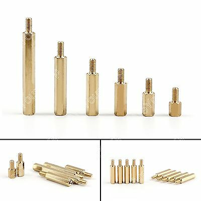 M3+6mm M3 Male to Female Screw Brass Pillars Standoff Spacer Hex Column Bolt
