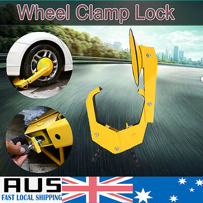 Wheel Clamp Disc Lock Anti-Theft Security Safety Car Vehicle Van Caravan Heavy