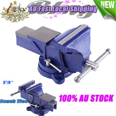 """Blue 5''/6"""" Machinist Vise Table Bench Vice Grip Clamp Workshop Tool Heavy Duty"""