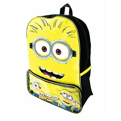 Despicable Me Minion Two Eye Face Backpackt  - New & Licensed Aussie Stock