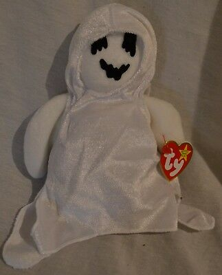 TY Beanie Babies Collection SHEETS the Halloween Ghost 1999 Retired Mint w/ Tags