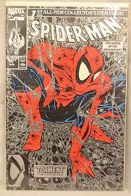 Spiderman #1 Silver 1990 Todd McFarlane Variant Cover Marvel Comics Torment NM