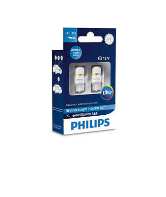 PHILIPS XTREME VISION 360 LED T10 501 W5W CAR BULBS 6000K +++ New Box Design +++