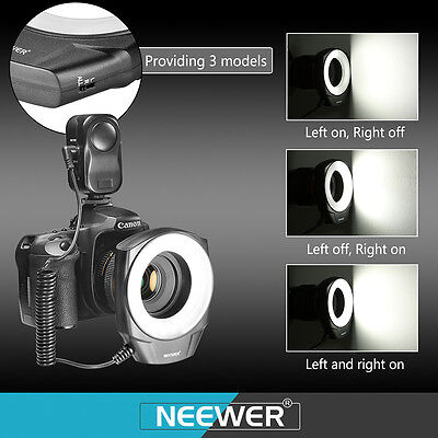 New Macro Ring 48 LED Power Light for Canon Nikon Olympus Pentax DSLR Cameras