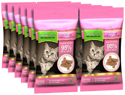 Natures:menu Cat Treats Pollo & hígado 60 gr