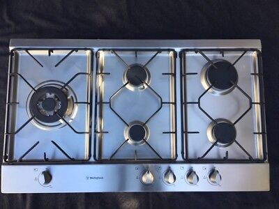Westinghouse 90Cm Stainless Steel Gas Cooktop - Whg952Sa - As New