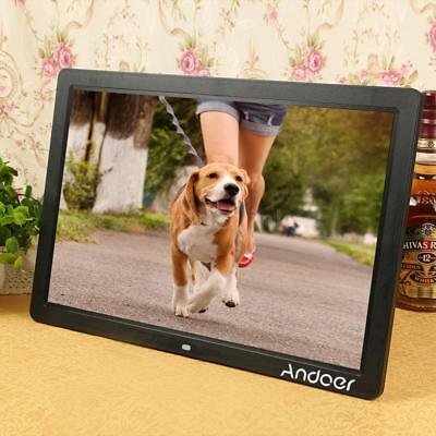 17 Inch Clock MP3 MP4 Movie Player Digital Photo Picture Frame Remote Control