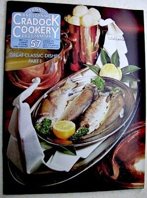 FANNY & JOHNNIE CRADOCK COOKERY PROGRAMME No 57 1971 Index, Great Classic Dishes