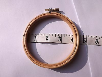 Round Wooden Hoop/Ring ideal for Embroidery Cross Stitch Sewing 4 inch