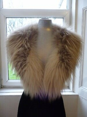 Beautiful Original Vintage 1950s 60s Real Fur Fox Wrap Stole Glamour Evening