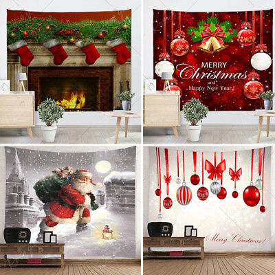 2018 Xmas Art Home Wall Hanging Tapestry Wall Ornamentation Christmas Wall Decor