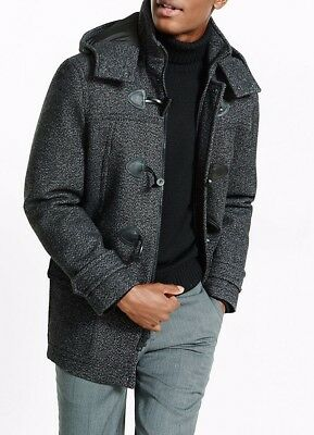 nwt MENS EXPRESS tech toggle water resistant wool tweed coat s small