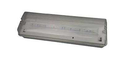 LED Emergency 4 Watt Bulkhead Light Maintained Non Maintained IP65 With Legends