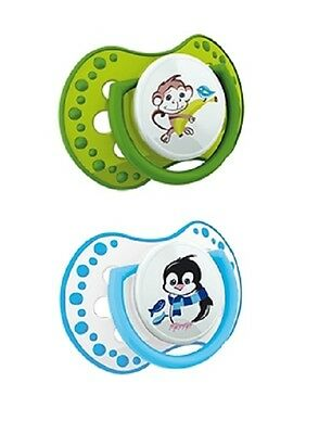 2 pcs -Baby Dummy Pacifier LOVI Dynamic Soother Very Colorful