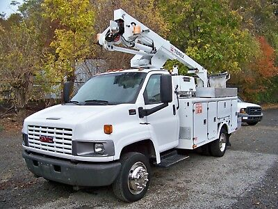 2005 Gmc C5500 Topkick Tcp-36  Cable Placer  Bucket Truck  65K Miles