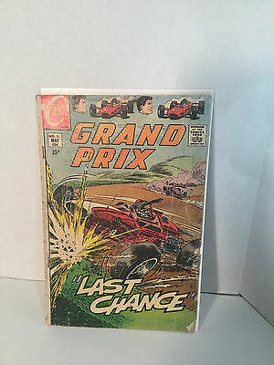 """GRAND PRIX, No.31, May 1970, """"LAST CHANCE"""", By Charlton Comics, VG-GD, Condition"""
