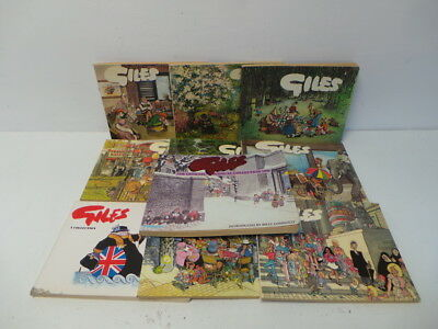 10x Vintage Giles Annual Cartoon paperback Books (D)