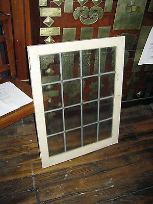 Victorian 16 Pane leaded divided window with pebble glass, great for bathroom.