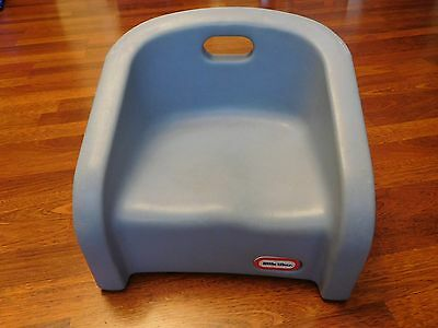 Sturdy Portable Little Tikes Booster Seat / Chair - Slate Blue