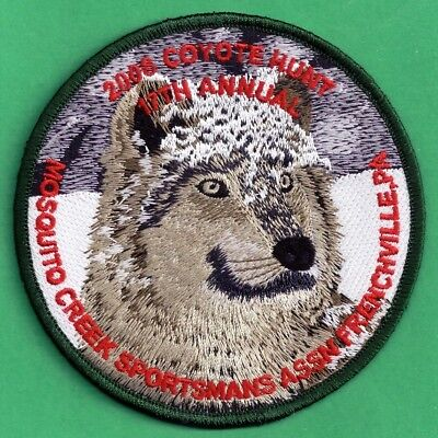 Pa Pennsylvania Game Fish Commission NEW Mosquito Creek Coyote Hunt 2008 Patch