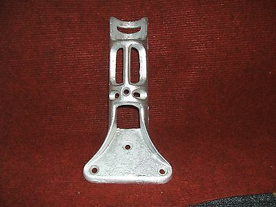 "Vintage Cast Iron HEAVY 1,1/2"" Flag Pole Holder Banner Bracket Wall Porch Mount"