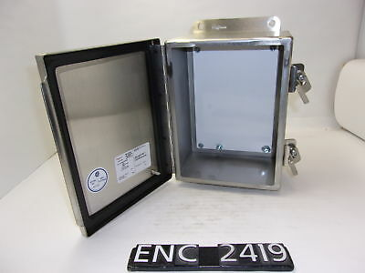"""NEWOTHER Hoffman A8064CHNFSS StainlessSteel 8.25""""x6.75""""x4.5"""" Enclosure (ENC2419)"""
