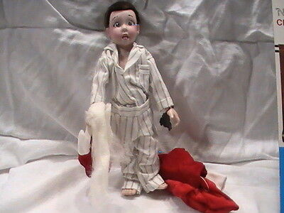 Western Germany Norman Rockwell Character Davey Christmas Porcelain Doll Figure