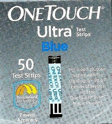 Brand New In Box (Nib) One Touch Ultra Blue Test Strips 50 Count Expire 02/2019