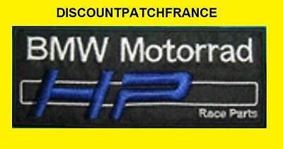 BMW motorrad HP. Patch écusson thermocollant aufnäher embroidered patches.