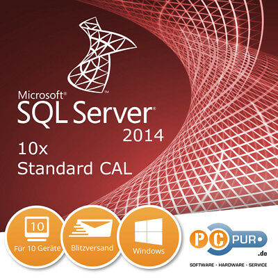 MS Microsoft SQL Server 2014 User CAL (10 Nutzer)