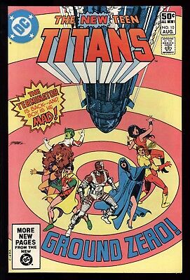 New Teen Titans (1980) #10 1st Print 2nd App Deathstroke The Terminator Perez NM