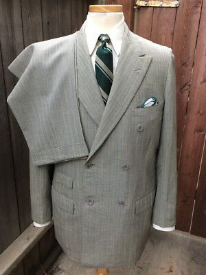Vintage 1940's Lt. Gray 3-Piece Suit by A. Rojak of New York!