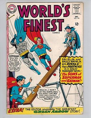 World's Finest 154  1st Appearance of the Sons of Superman & Batman! 1965 VG