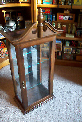 Antique Wood and Glass Curio Display Case Cabinet.....Wall