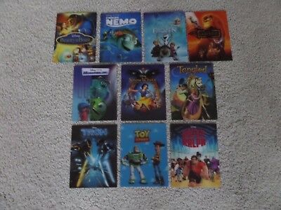 Lot Of 10 Disney Lenticular Magnets From Steelbooks No Duplicates