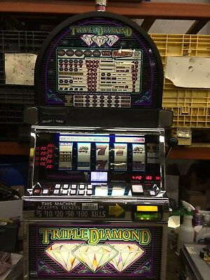 Igt S2000 Triple Diamond 5-Reel Slot Machine (Coinless)